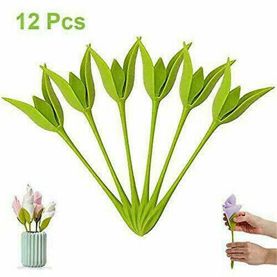 12Pcs Bloom Napkin Holders - Flowers Floral Green Design for Table Decoration ~@