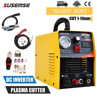 CUT50P Plasma Cutter Pilot Arc 50A Inverter Air Plasma Cutting Machine & Torches