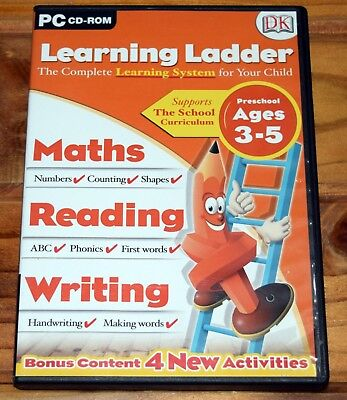 Learning Ladder Preschool Ages 3-5 PC Educational Maths Reading Writing