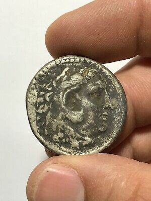 ANCIENT GREEK SILVER COIN DOUBLE TETRADRACHM OR METAL ALEXANDER THE GREAT 31.8gr