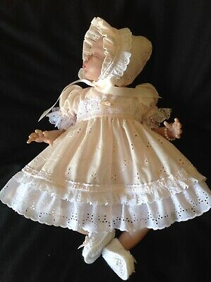 """Beautiful Broderie  Dress Set To Suit 17 - 18"""" Reborn"""