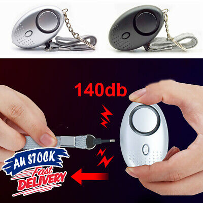 1PCS Personal Alarm Self-defense 140dB Siren Emergency Safe Keychain sound Song