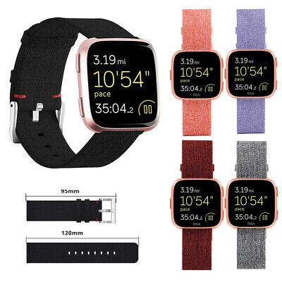 For Fitbit Versa Strap Replacement Woven Fabric Milanese Watch Band 22mm Canvas
