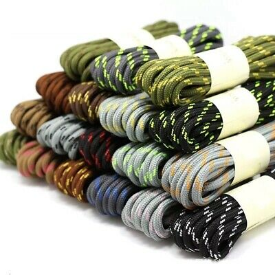 1Pair 19Colors Round Shoelaces Hiking Slip Rope Shoe Laces Sneakers Boot Outdoor