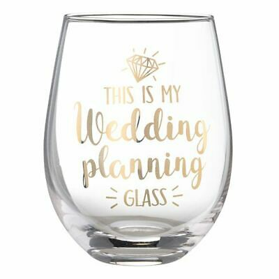 Lillian Rose 'This is My Wedding Planning Glass' Stemless Wine Glass