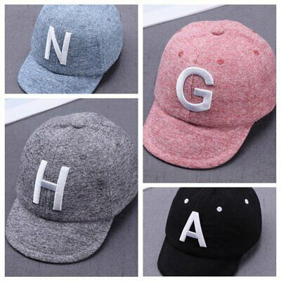Toddler Kids Baby Boys Girls Baseball Cap Embroidery Cotton Snapback Sun Hat US*