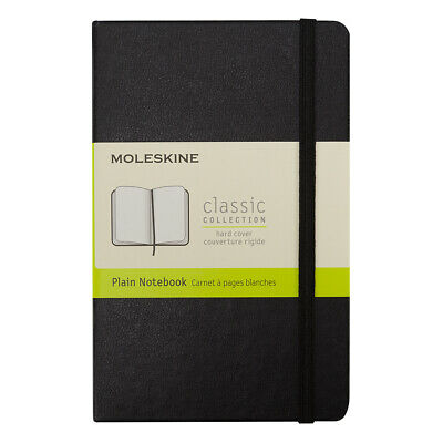 NEW Moleskine Classic Hard Cover Notebook Pocket Plain Black