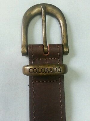 Colorado Vintage Brown Leather Belt Size M 4 Jeans Thick Solid Australian Made