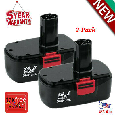 2 Pack of Craftsman DieHard C3 19.2Volt NiCd Battery Replacement Craftsman 11375