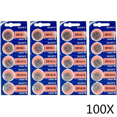 Genuine 100 Pcs Sony CR2032 CR 2032 3V Button Coin Cell Battery Brand New