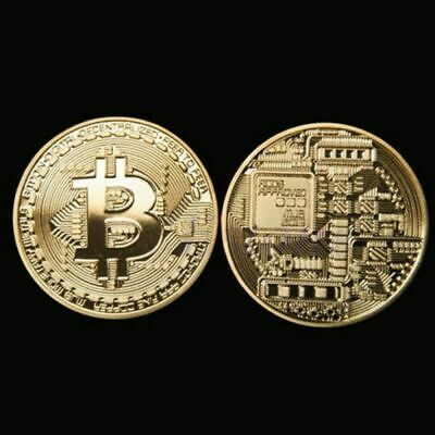 Gold Plated Commemorative Coin BTC Bitcoin Collectible Collection Art Gift ES