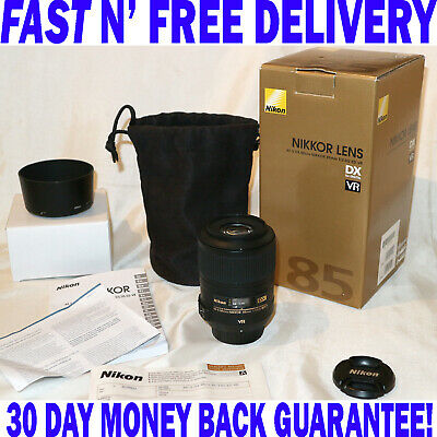 Nikon AF-S DX Micro NIKKOR 85mm f/3.5G VR Portrait Lens - FREE SAME DAY DISPATCH
