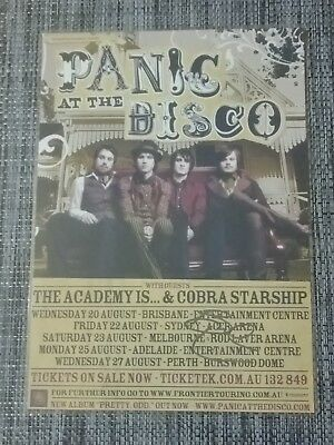 PANIC AT THE DISCO - PRETTY ODD Australia Tour SIGNED AUTOGRAPHED  Poster