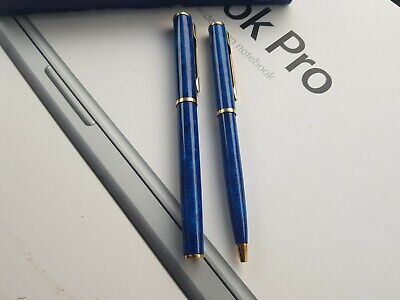 Waterman Apostrophe Pen And Fountain Pen Set Blue  Marbled