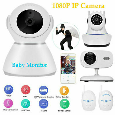 1080P HD WiFi IP Camera Wireless Night Vision Baby Monitor Home Security CCTV US