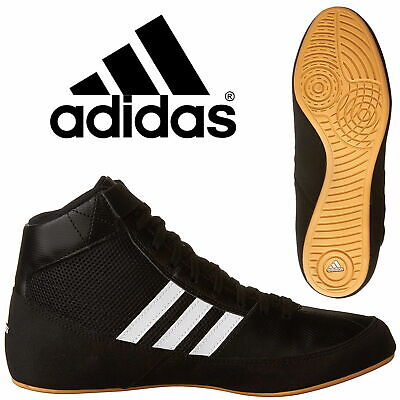 adidas Havoc Kids Boxing Boots Boys Wrestling Trainers Retro Black Sneakers
