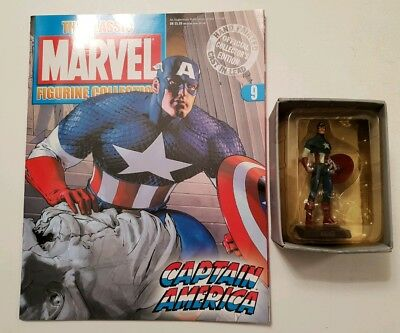Eaglemoss Marvel The Classic Figurine Collection Issue 9 Captain America