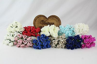 24 Bunches Of 3cm Small Colourfast Flowers Roses 288 Flowers 12 Colours Boquet