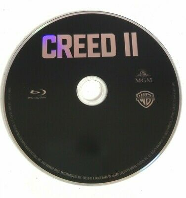 Creed 2 II Blu-Ray Disk ONLY FREE SHIPPING