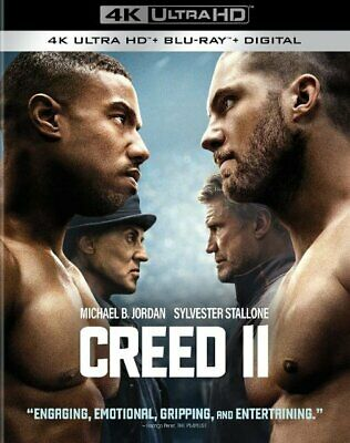 Creed 2 II 4K Disk ONLY With Case, Cover & Slipcover