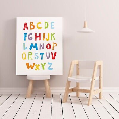 Colourful Alphabet Print / Picture for Playroom Nursery Kids Room Bright Colours