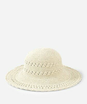 ad1f3406a36 NWT San Diego Hat Company Women s Natural Cotton Crochet Hat With Large Brim