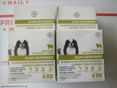 Bayer Expert Care Quad Dewormer  Chewables Small Dog 2-25lbs  Set of 10