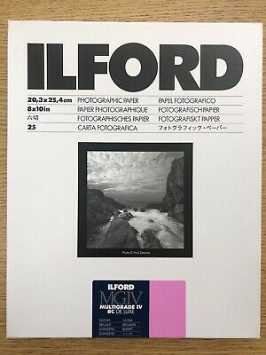 "Ilford Multigrade IV RC Deluxe Enlarging Paper, 8x10"", Glossy Surface #1178274"