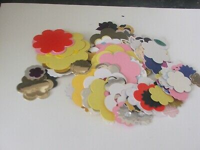 small die cut flowers 100 plus mixed colours