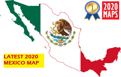 Latest Mexico Map 2019 for Garmin GPSs