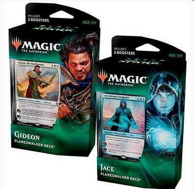 MTG Magic the Gathering War Of The Spark Set of Both Planeswalker Decks New