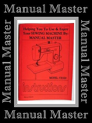JONES BROTHER VX520 Sewing Machine Instruction Manual Booklet