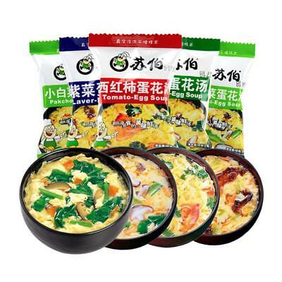 Chinese Instant vegetable Soup Different tastes Fast Food  Yummy. HOT