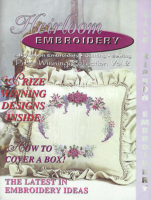 Silk Ribbon Embroidery Heirloom Embroidery pattern book with full color graphs