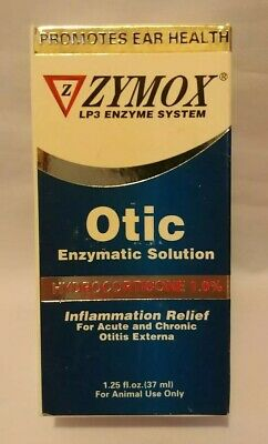 Zymox Otic Pet Ear Infection Treatment Hydrocortisone 1.25oz Enzymatic Dogs Cats