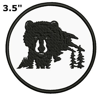 Bear Trees Embroidered Patch Iron-On Souvenir Travel Explore National Park