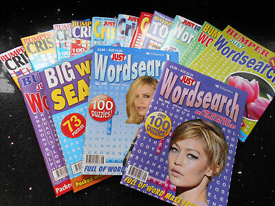 Mixed Criss Cross & Wordsearch Magazines - Just & Bumper Just  x 15 - FREE P & P