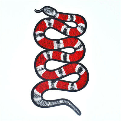 Large Snake Patch Sew On DIY Embroidered Patch Applique GUCCI Style