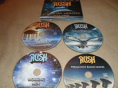 Rush Across the Airwaves (The Legendary Broadcasts) 1974-1980 4-CD Box Set NEW