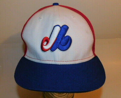 13c7479c67c Vintage Original 1990s MONTREAL EXPOS MLB NEW ERA 59FIFTY WOOL Fitted HAT 7  1 2