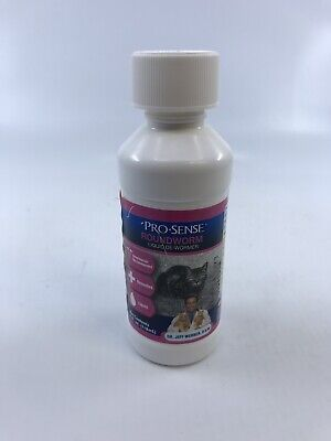 Pro Sense Cat Roundworm Liquid De-Wormer 4 oz Bottle New