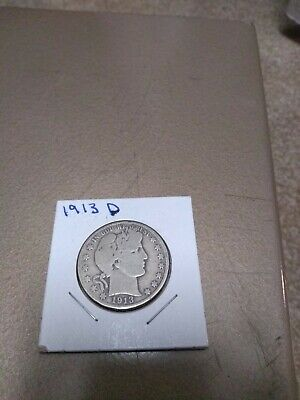1913-D Barber Half Dollar - Scarce!!  Better Date!!