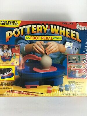 High Power Motorized Deluxe Pottery Wheel Workshop Real Foot Pedal Operation NIB