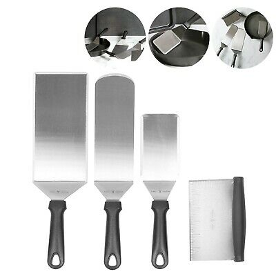 4pc. Stainless Steel Spatula Set / Asorted Untensil BBQ Set / Metal Grill #L2