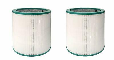 Dual-layer HEPA Vacuum Filter Compatible with Dyson TP02 968126-03, 2 Filters