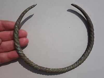 Ancient Viking Twisted Bronze Torque (Neck Torc), Dated -10 - 12 century A.D.