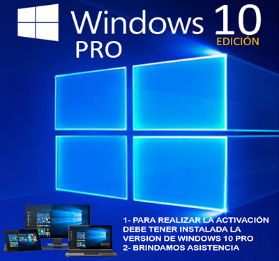 Windows 10 Pro, Licencia Nueva Multilenguaje Para 1 Pc De  64 Bits