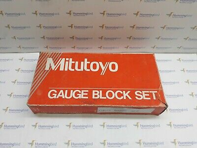 Mitutoyo 516-935-26 Be1-9N-1A/A Gauge Block Set New In Box!!