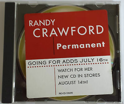 Randy Crawford Permanent Promotional CD Single