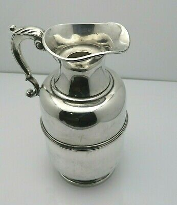RARE Antique Tiffany & Co Sterling Silver Beverage Thermos Carafe w/Glass Insert